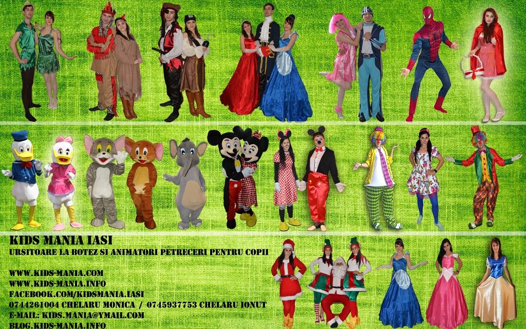 Petreceri tematice pentru copii cu animatori costumati inedit