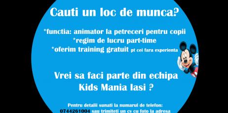 angajari animatori la petreceri pentru copii in iasi