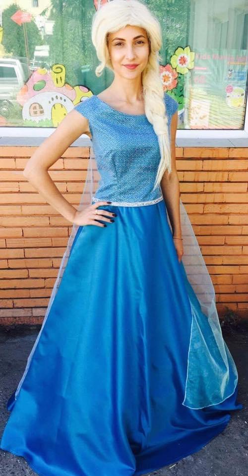 Elsa din regatul de gheata costum 2017