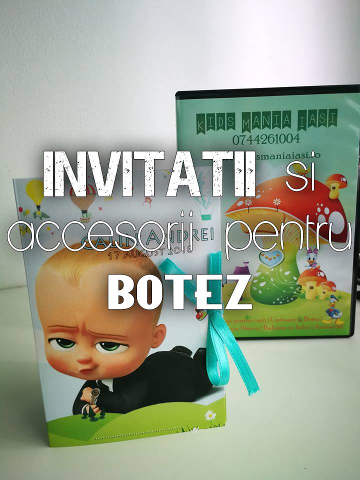 Invitatii si accesorii pentru botez